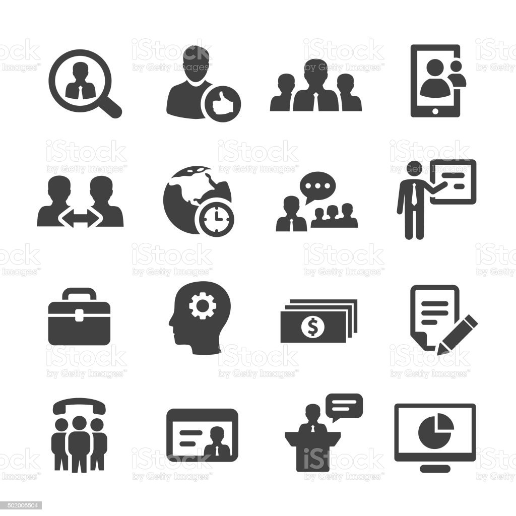 Management Icons Set - Acme Series vector art illustration