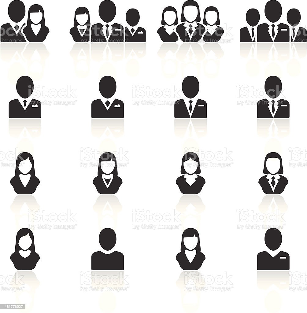 Management icons vector art illustration