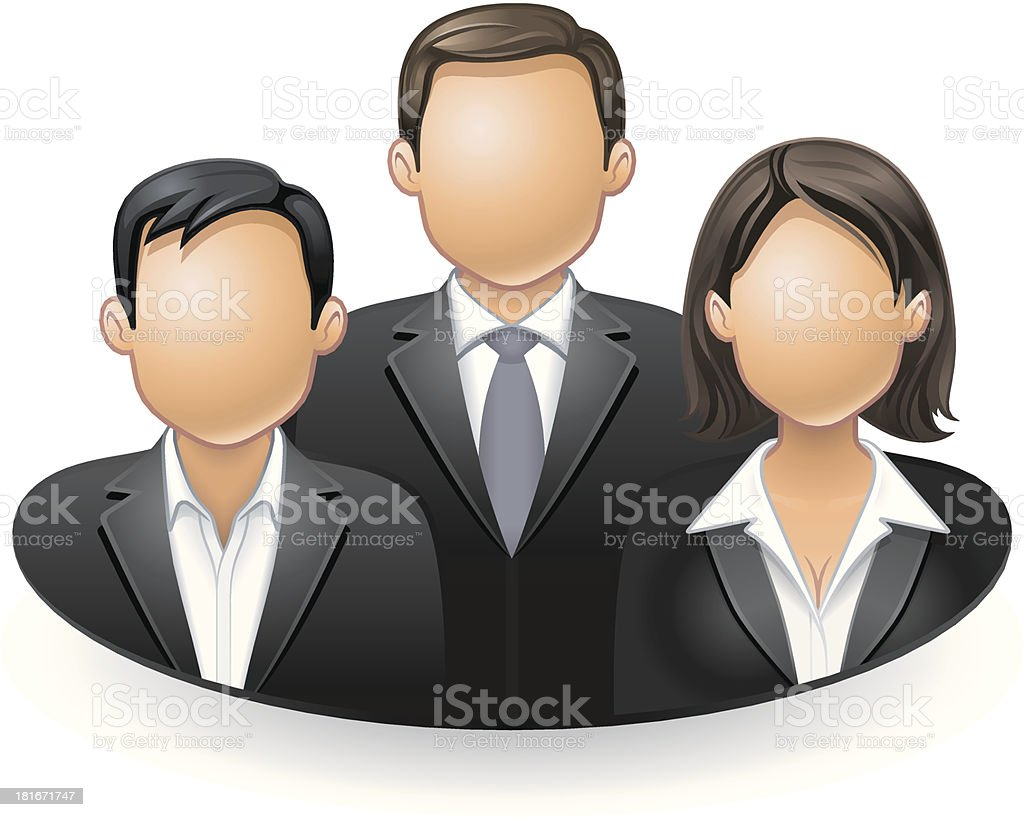 Management Team royalty-free stock vector art