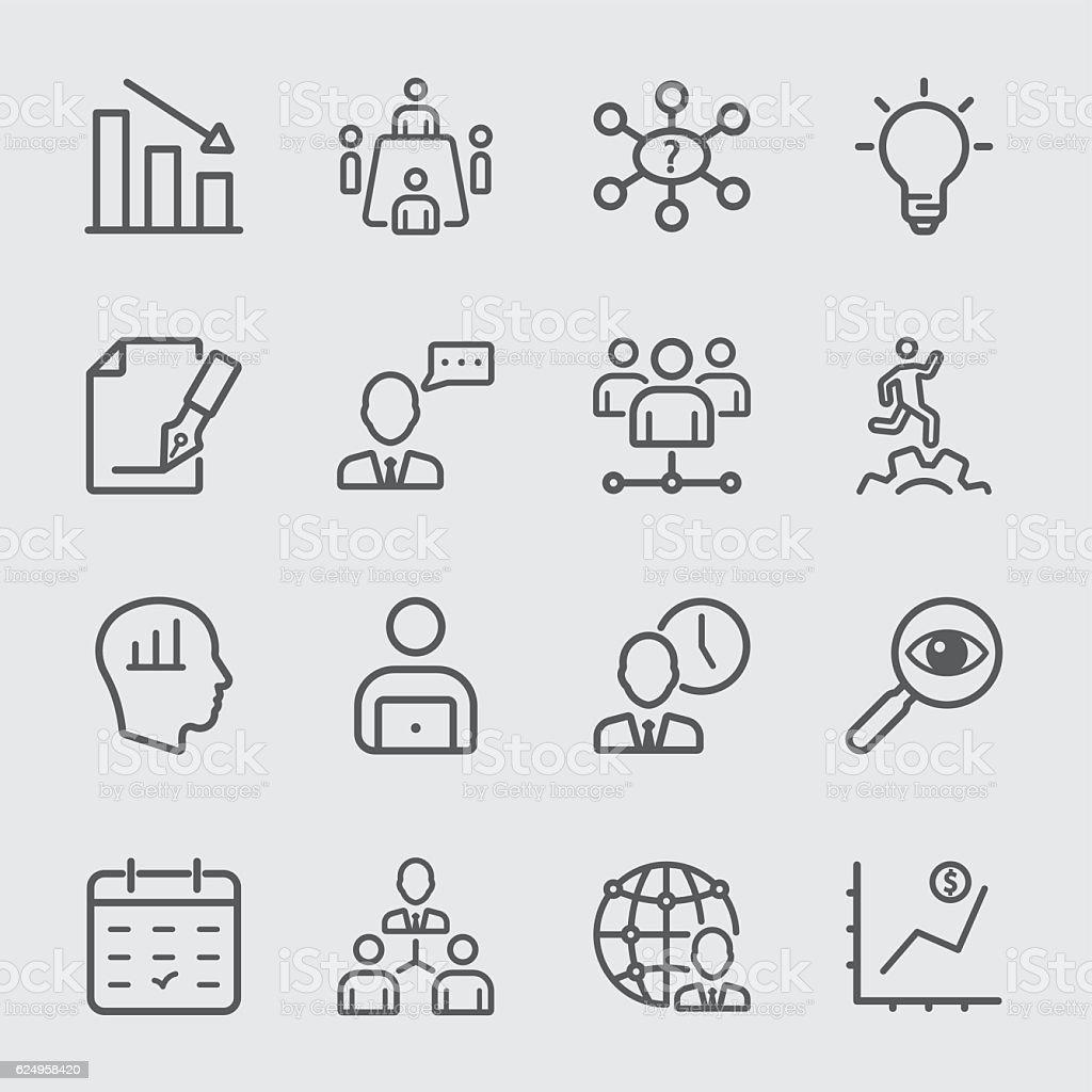 Management workflow line icon vector art illustration