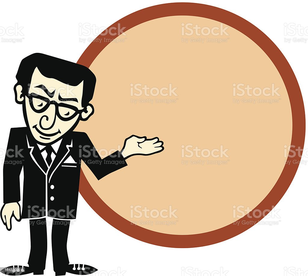 Manager offers you... royalty-free stock vector art