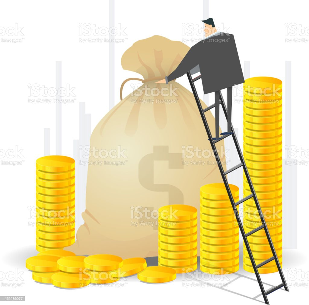 Managing Finance royalty-free stock vector art