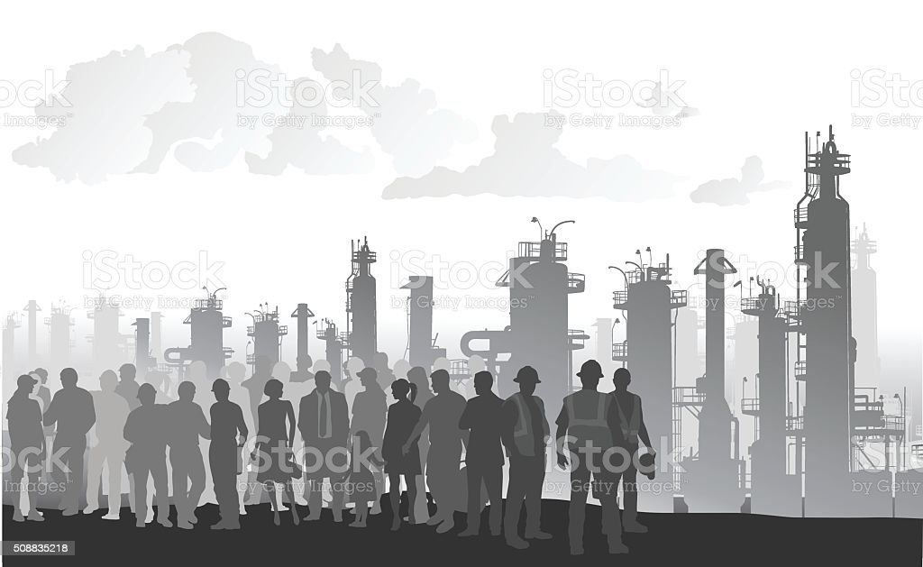 Managing Resources vector art illustration