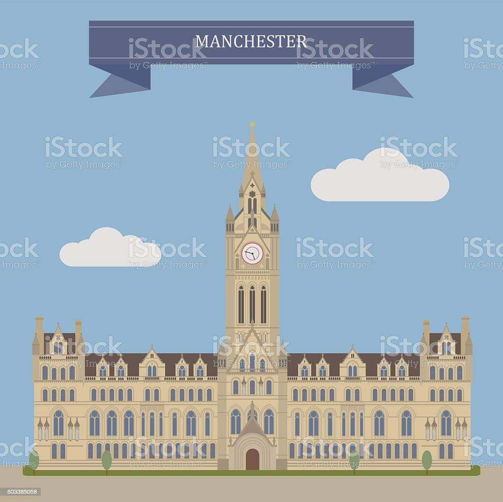 Manchester, England vector art illustration