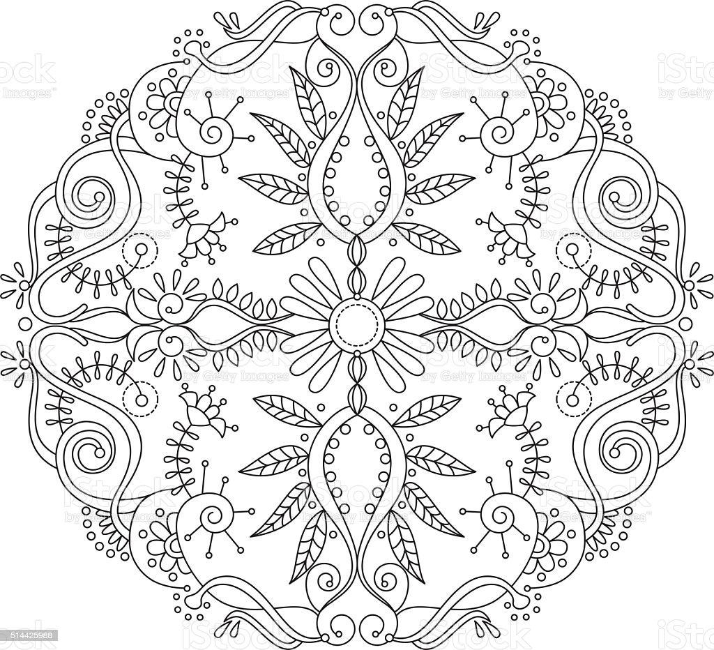 Mandala 1 vector art illustration
