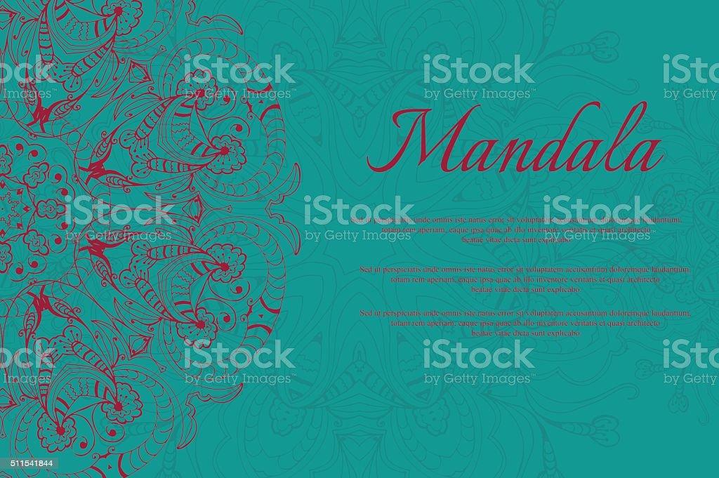 Mandala abstract design element. Round mandalas in vector. vector art illustration