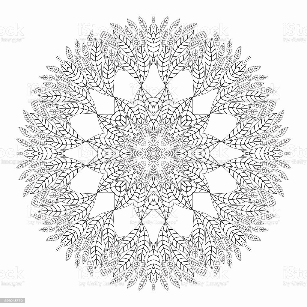 circle snowflake adult asian and indian ethnicities backdrop mandala antistress coloring pages - Mandala Snowflakes Coloring Pages