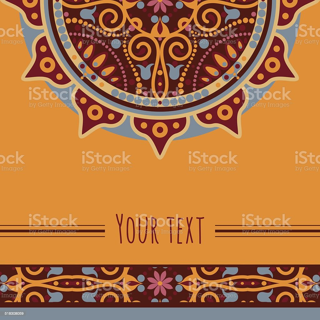 mandala card vector art illustration