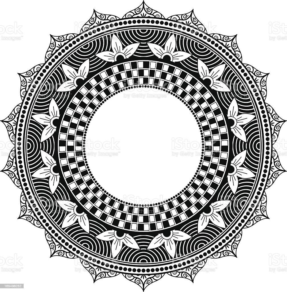 Mandala - Circle vector art illustration