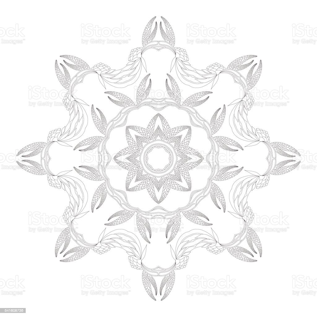 coloring page monochrome oriental pattern vector illustration royalty free stock