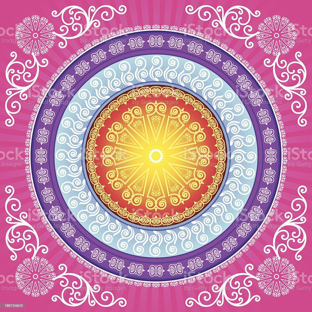 Mandala Design vector art illustration