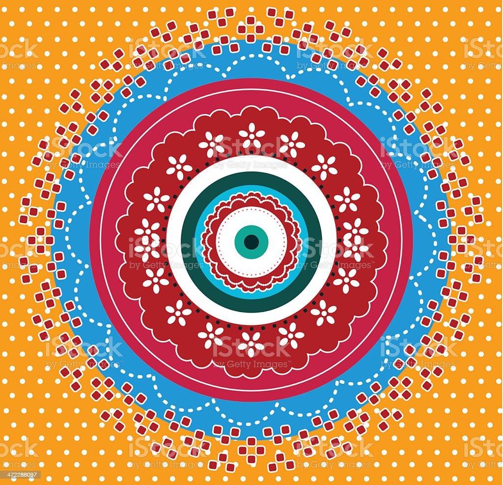 Mandala design royalty-free stock vector art