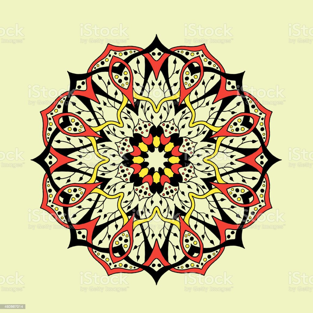 Mandala. Floral ethnic abstract decorative elements vector art illustration