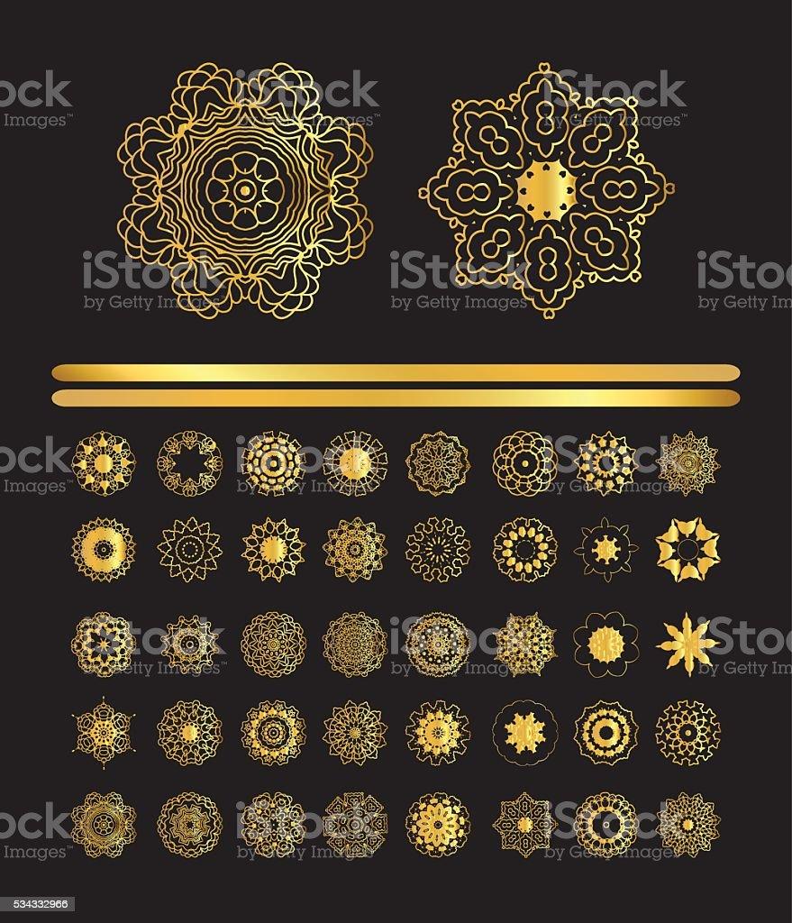 Mandala golden art vector art illustration