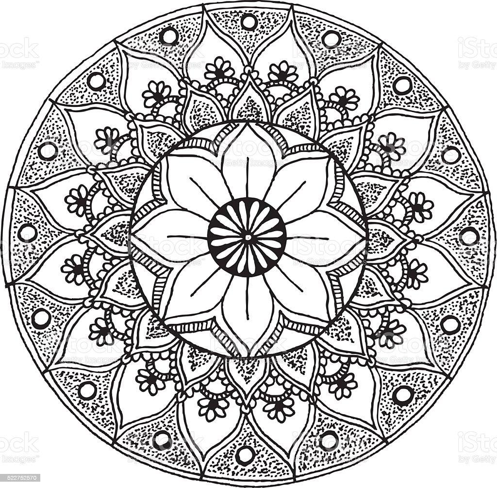 Mandala - hand drawn ornament illustration vector art illustration