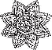 Mandala - hand drawn ornament