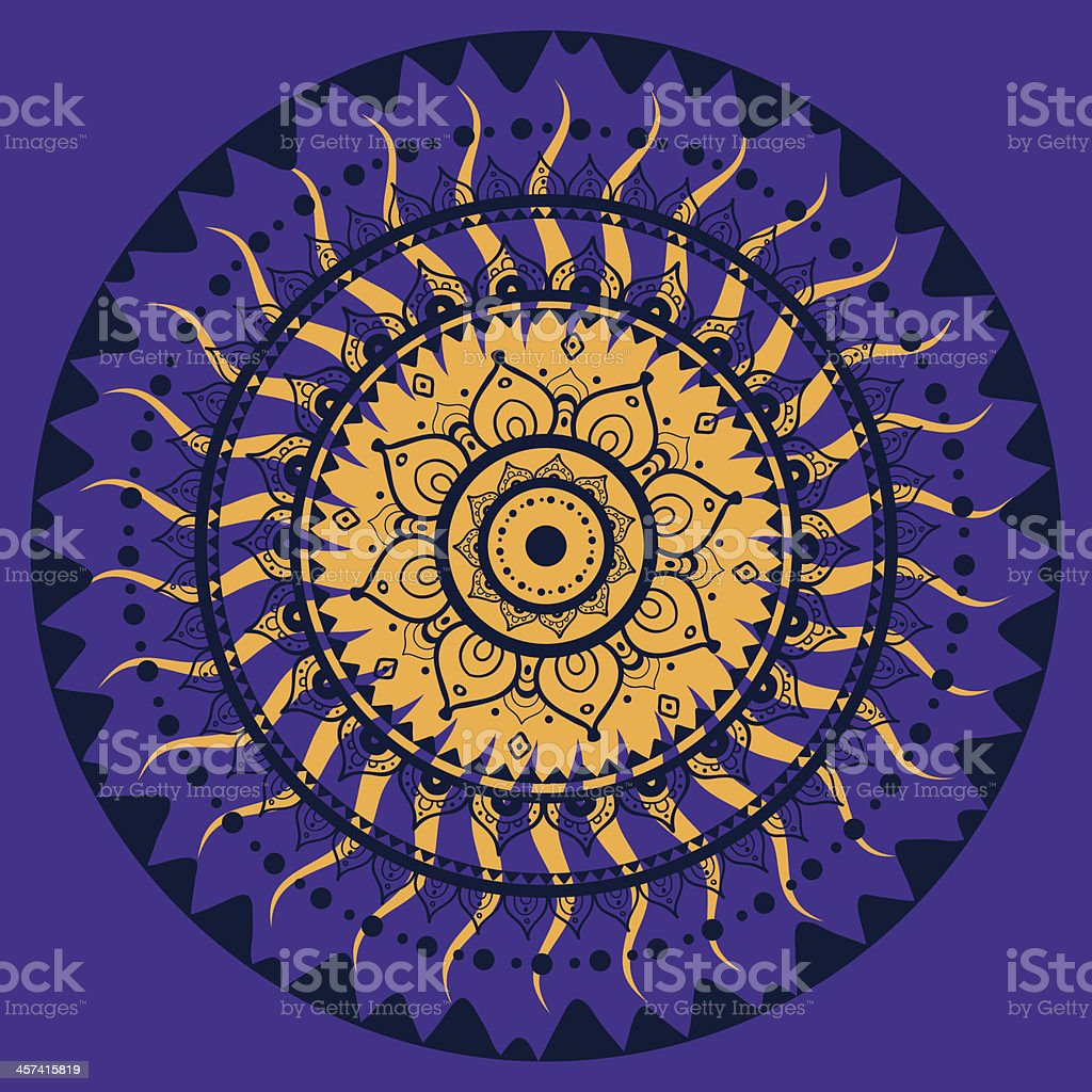 Mandala. Indian decorative pattern. vector art illustration