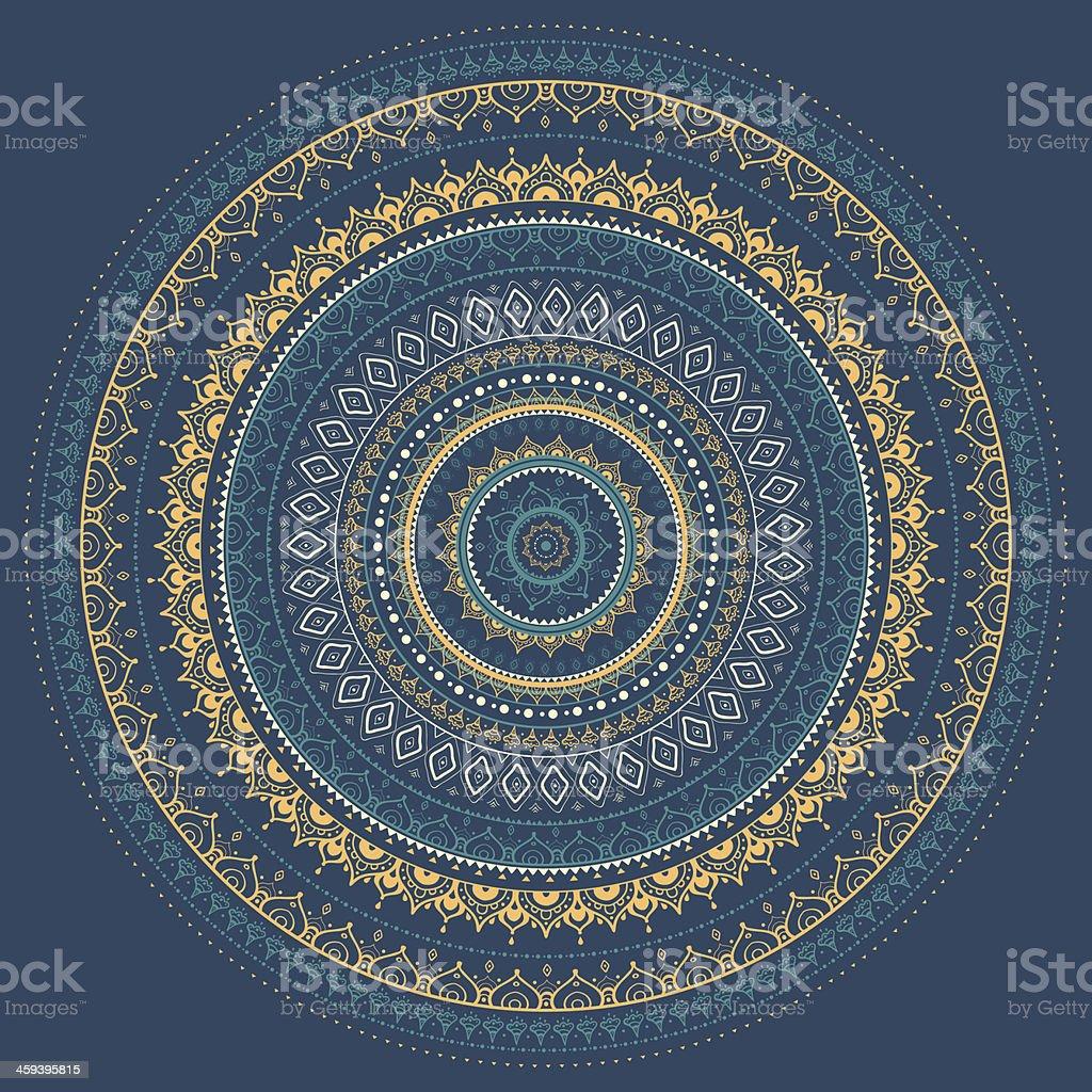 Mandala. Indian decorative pattern. vector art illustration