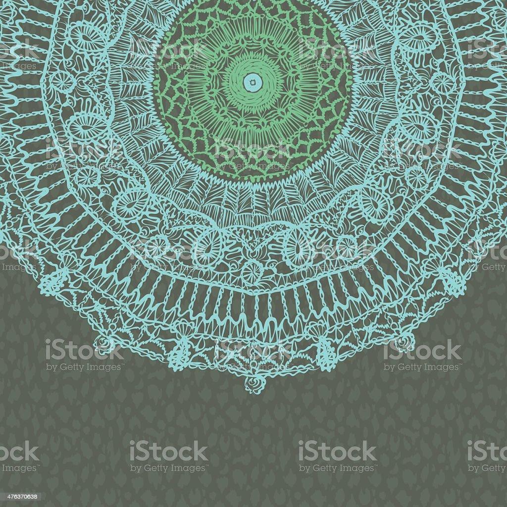 Mandala lace abstract background vector art illustration