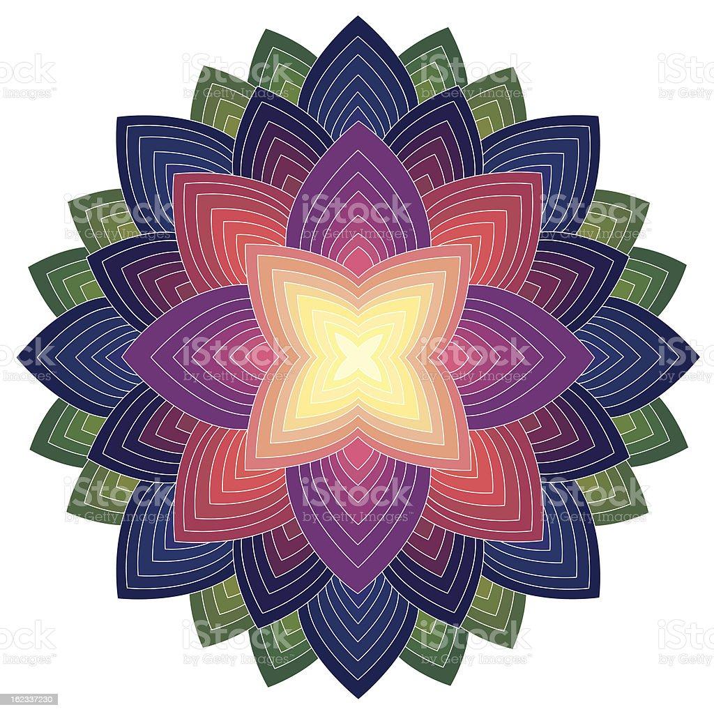 Mandala Round Ornament Pattern royalty-free stock vector art