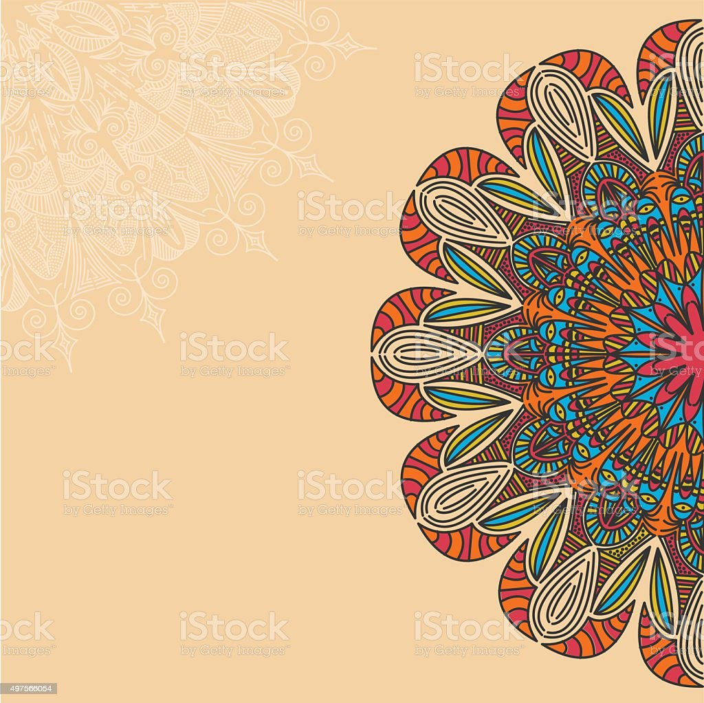 Mandala. Round Ornament Pattern. Vintage decorative elements. vector art illustration