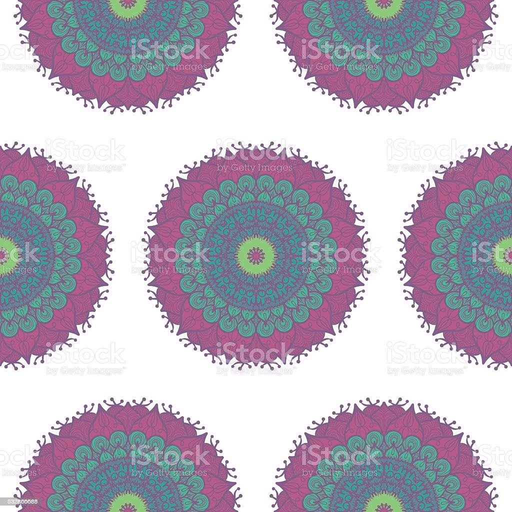 Mandala Seamless Pattern stock photo