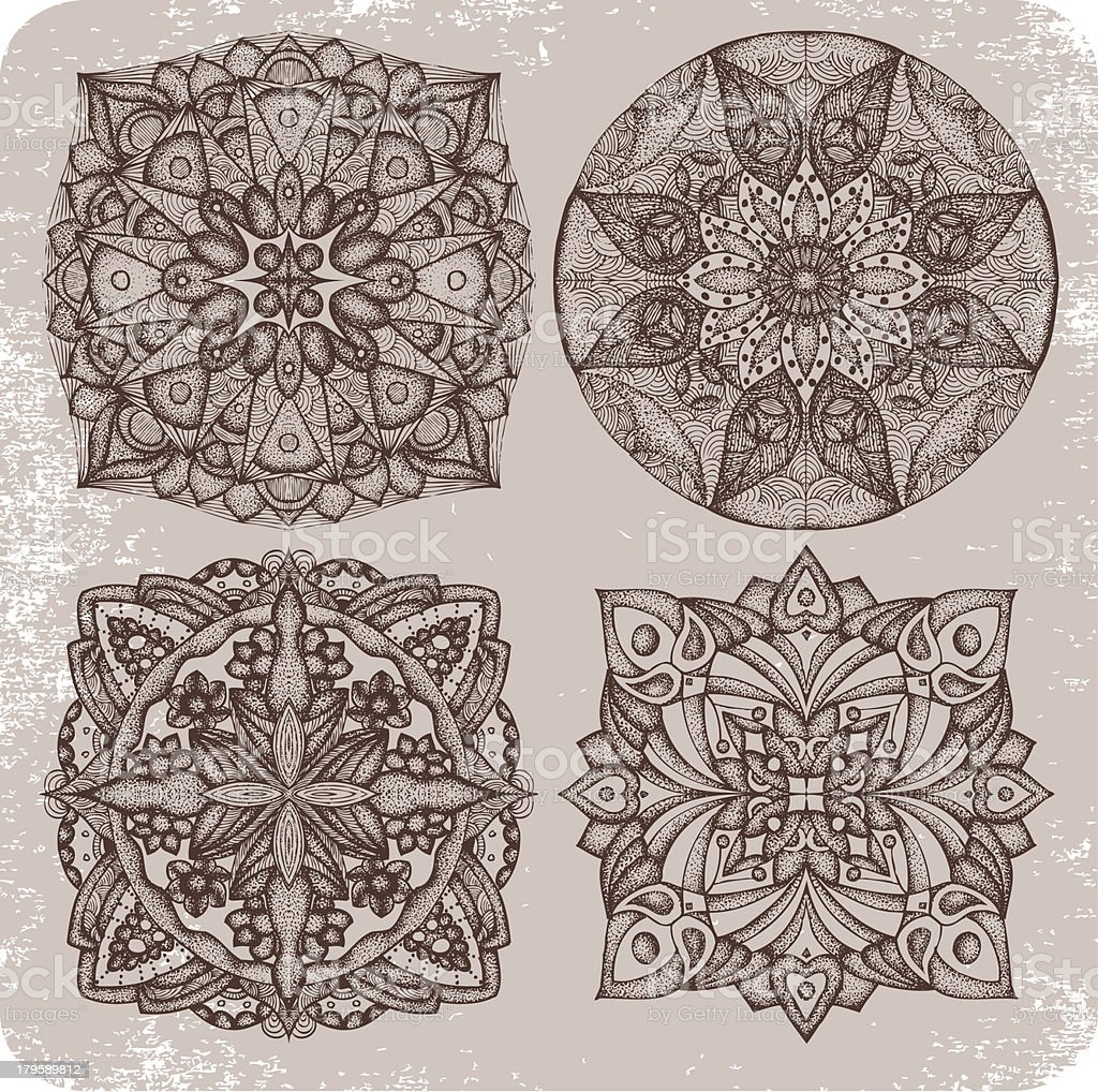 Mandala tattoo. vector art illustration