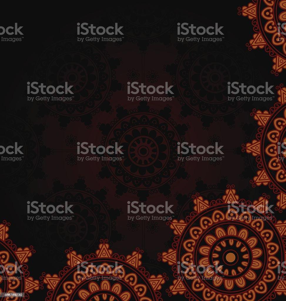 Mandala Template vector art illustration
