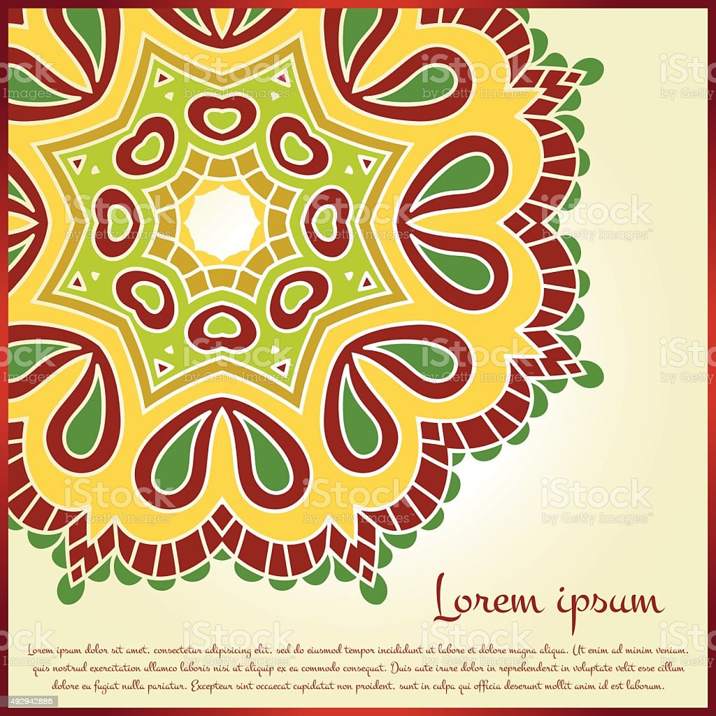 Mandala. Vintage decorative elements. Islam, Arabic, Indian, ottoman motifs. vector art illustration