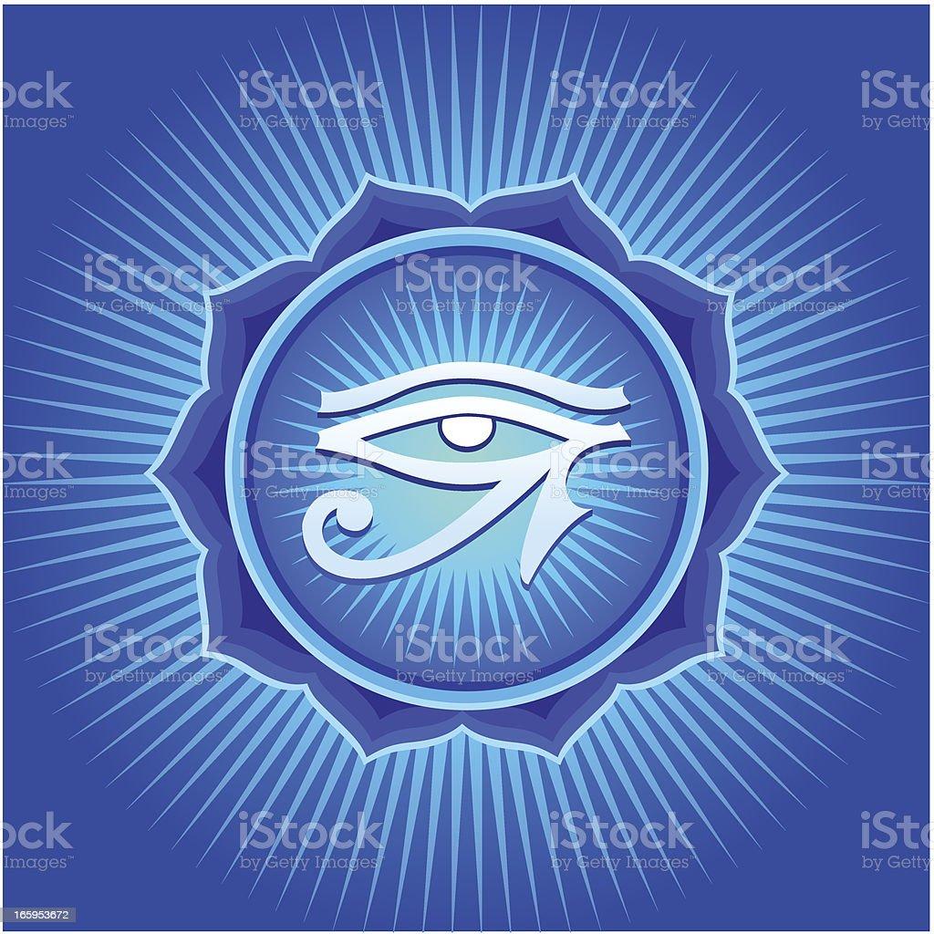 Mandala with Horus Eye royalty-free stock vector art