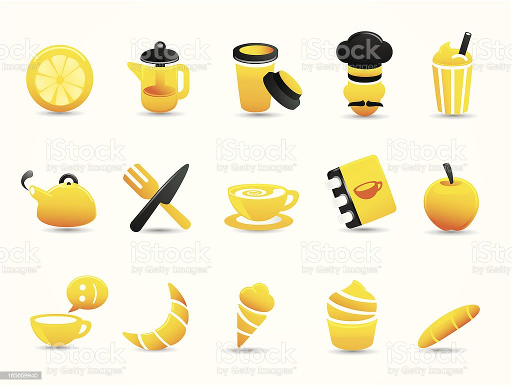 Mandarin Deluxe |  Cafe & Coffee Icons royalty-free stock vector art