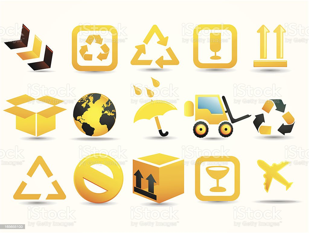 Mandarin Deluxe | Cargo & Delivery Icons royalty-free stock vector art