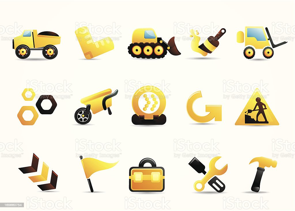 Mandarin Deluxe | Construction Icons I royalty-free stock vector art
