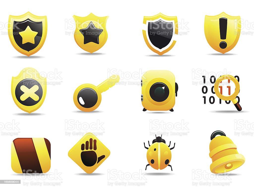 Mandarin Deluxe | Security Icons II royalty-free stock vector art