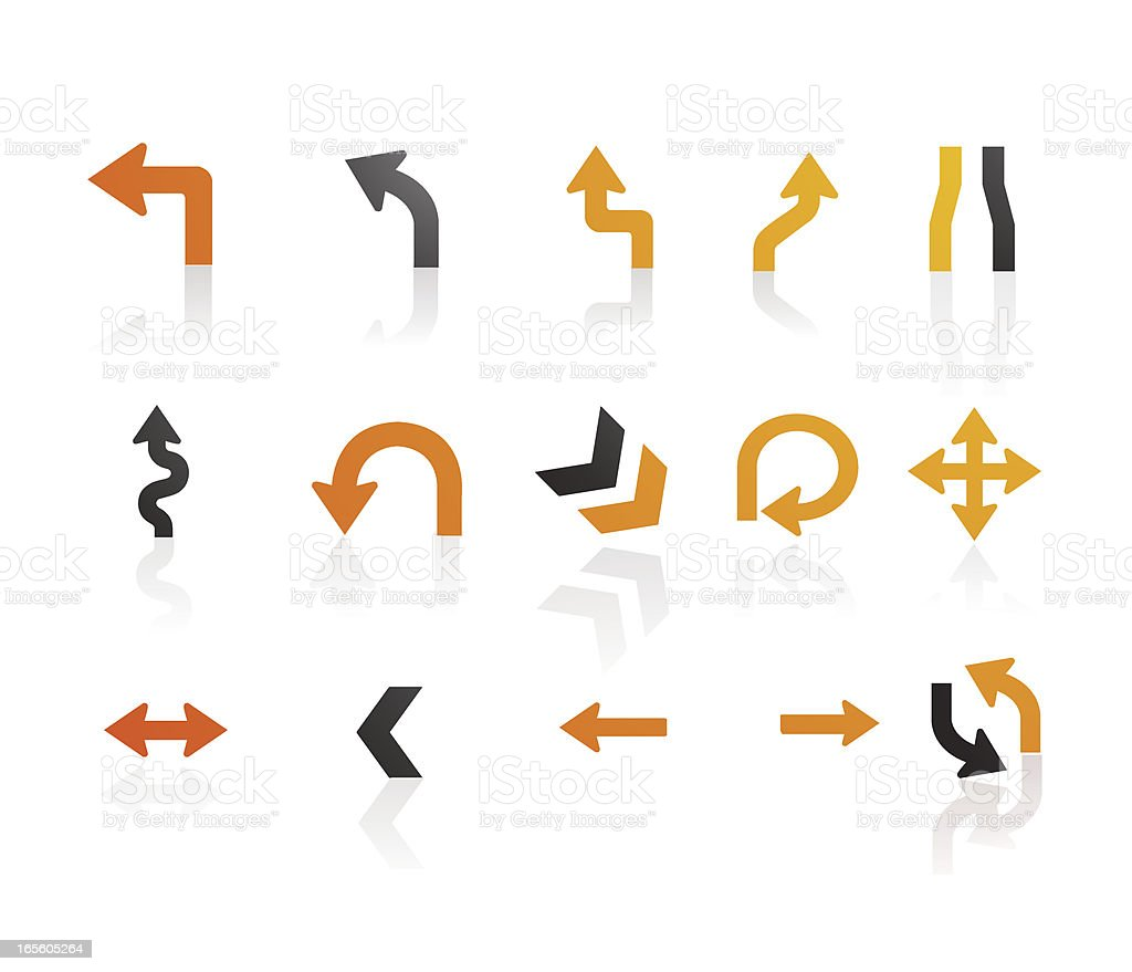 Mandarin Series |  Arrow Icons vector art illustration