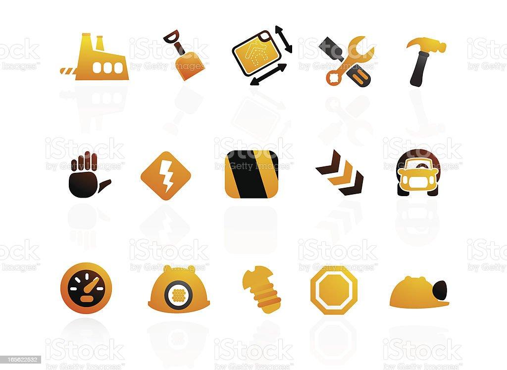 Mandarin Series | Construction Icons II royalty-free stock vector art