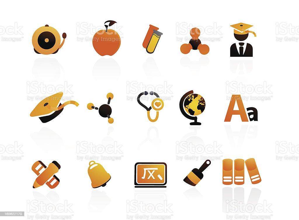 Mandarin Series | Education Icons royalty-free stock vector art