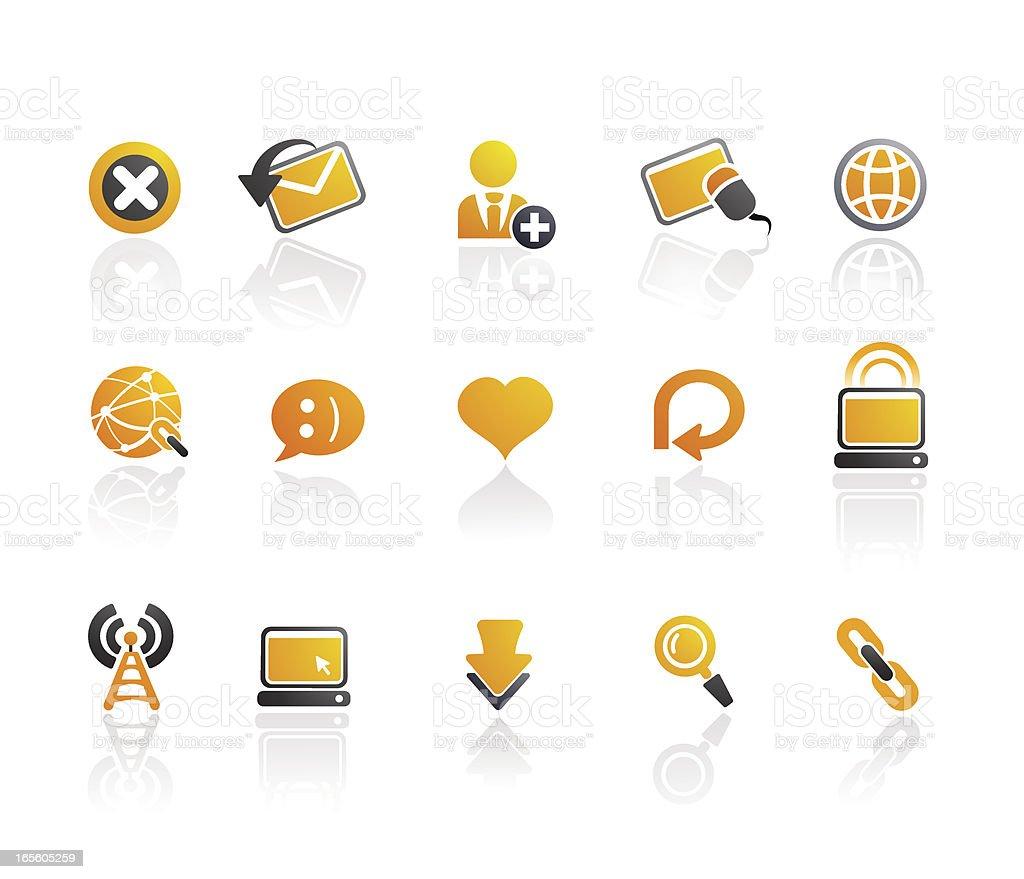Mandarin Series |  Web Browsing Icons royalty-free stock vector art
