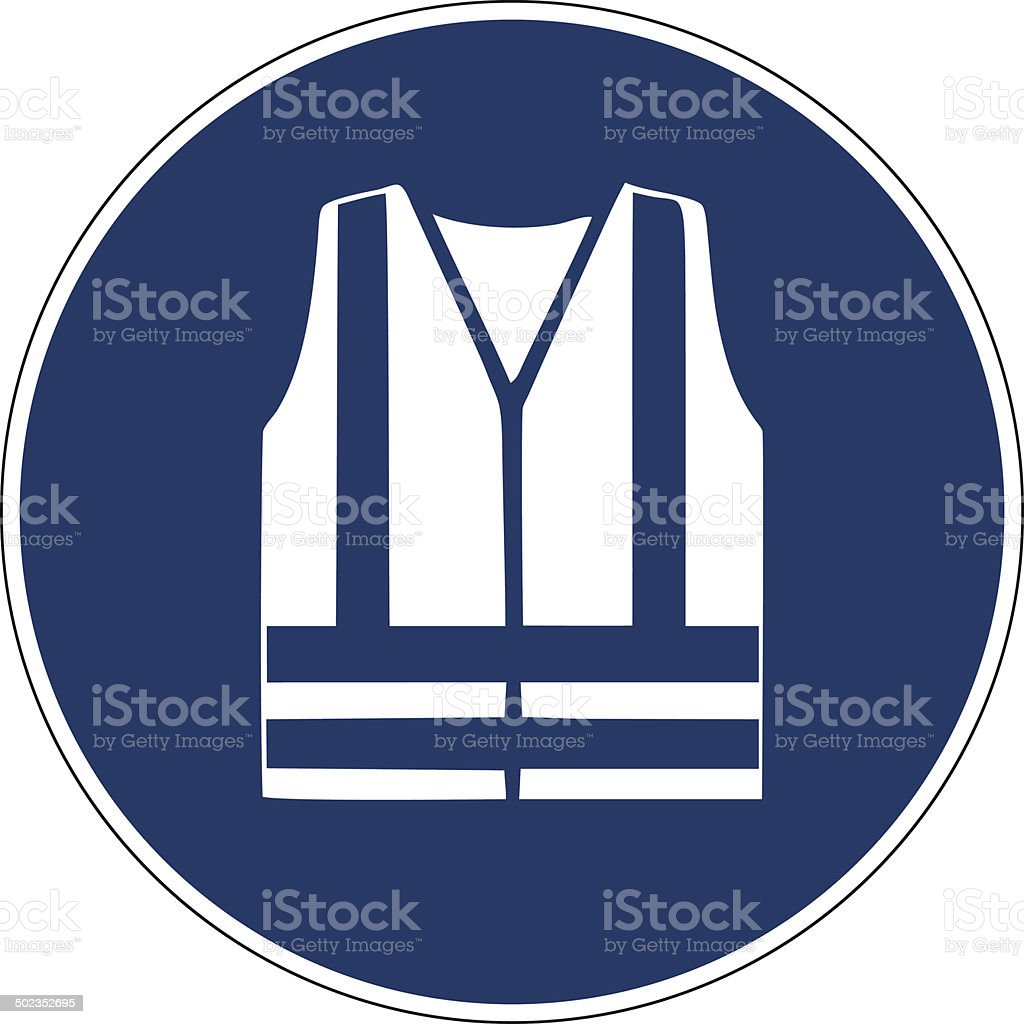 Mandatory action sign,Use reflective vest royalty-free stock vector art