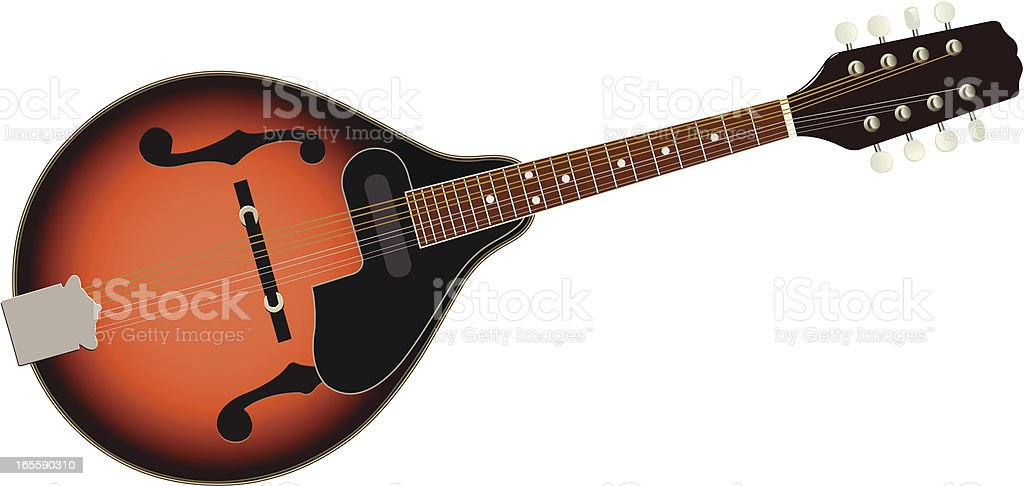 mandolin royalty-free stock vector art