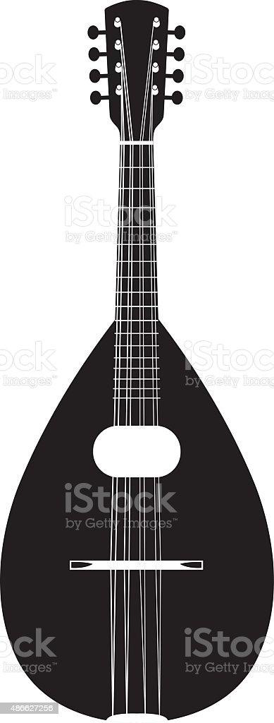 Mandolin vector art illustration