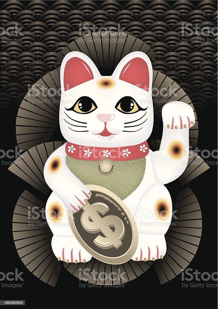 Maneki Neko royalty-free stock vector art
