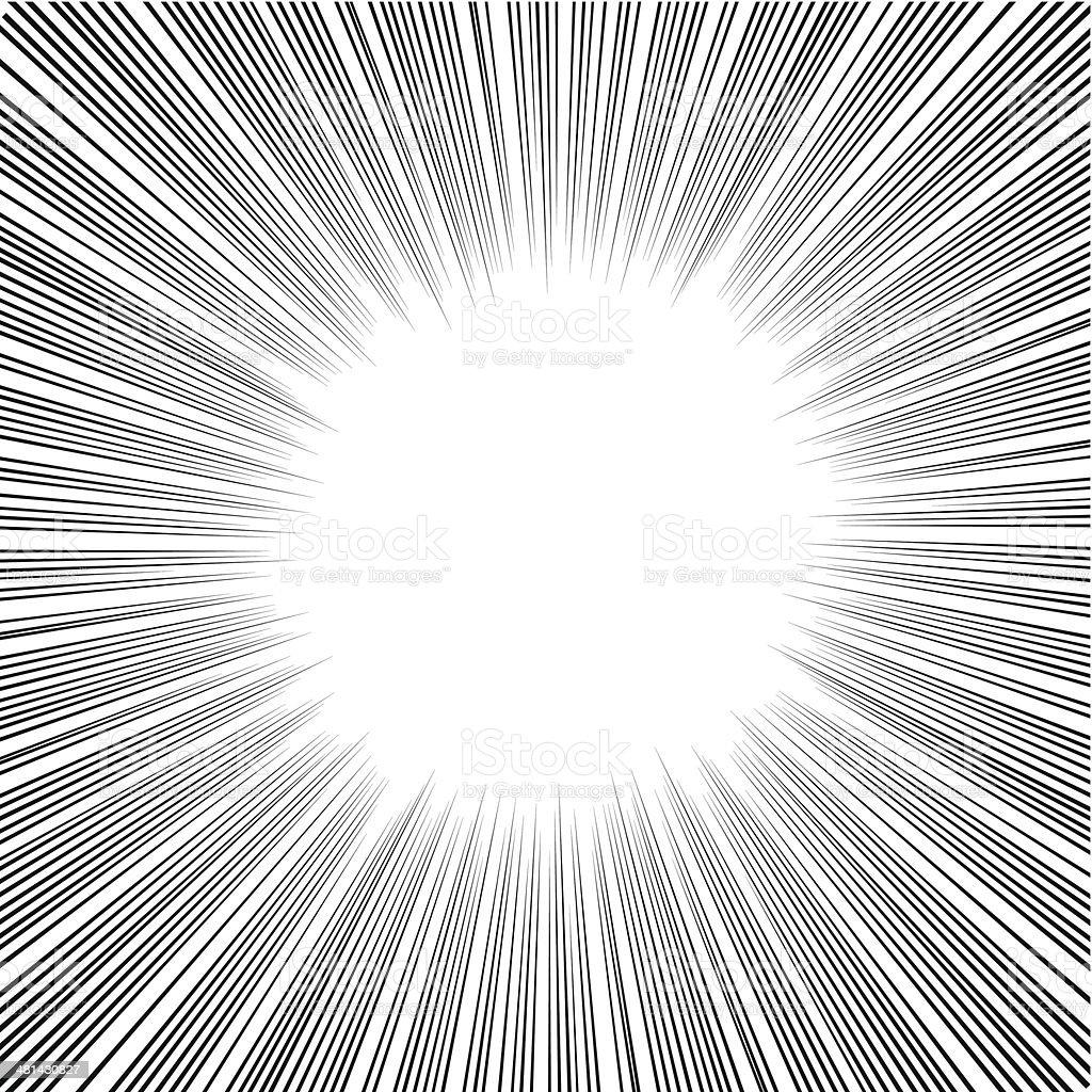 Manga Comics Radial Speed Lines vector art illustration