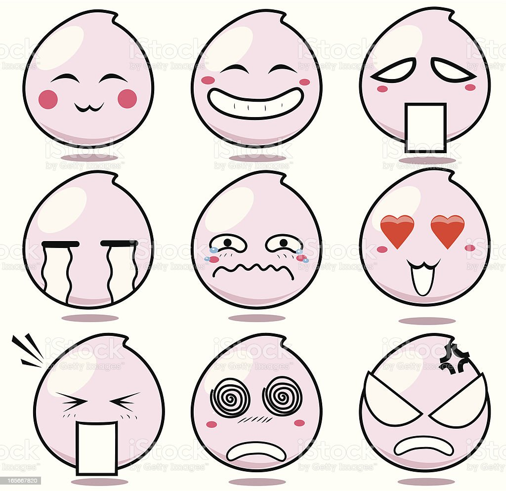 Manga emoticons royalty-free stock vector art