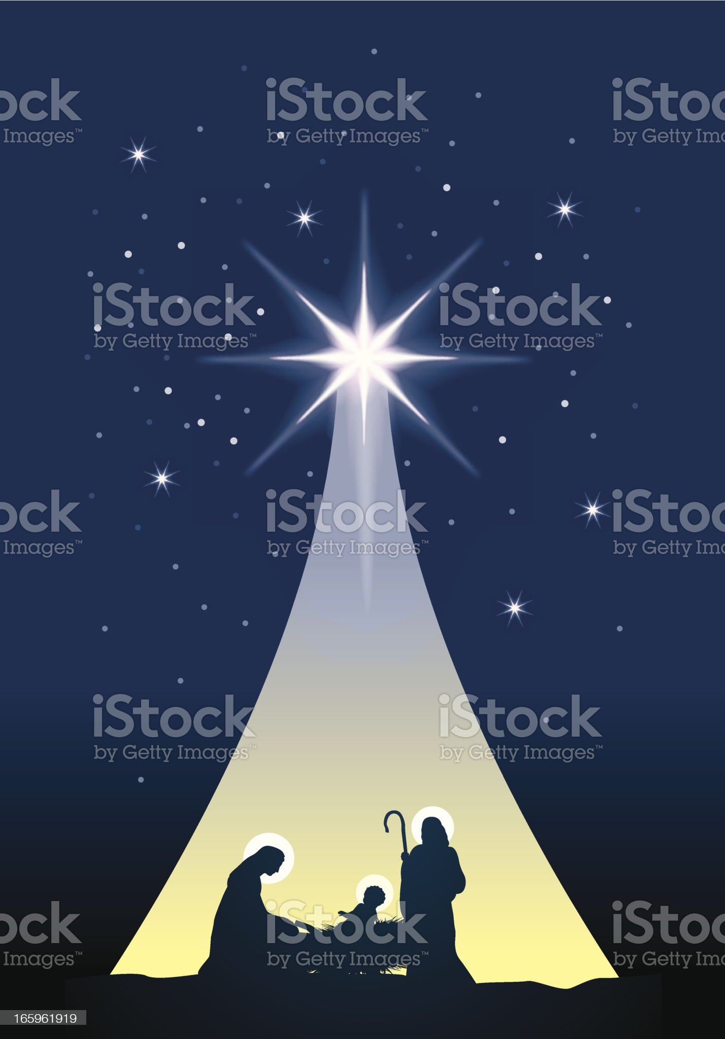 Manger Jesus Mary and Joseph royalty-free stock vector art
