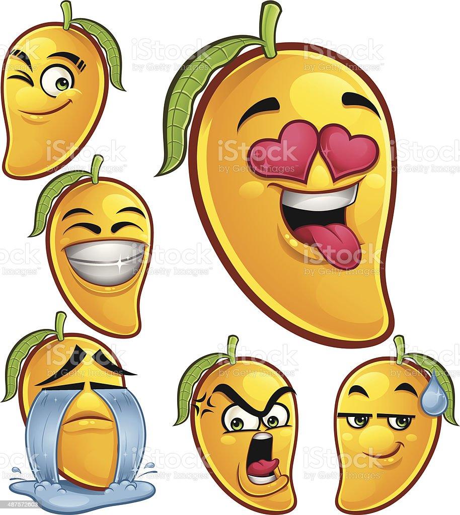 Mango Cartoon Set B royalty-free stock vector art