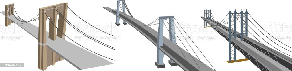 Manhattan Bridges vector art illustration