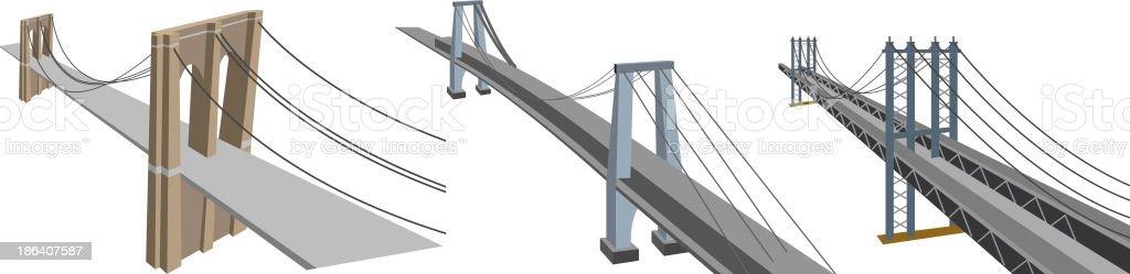 Manhattan Bridges vector art illustration