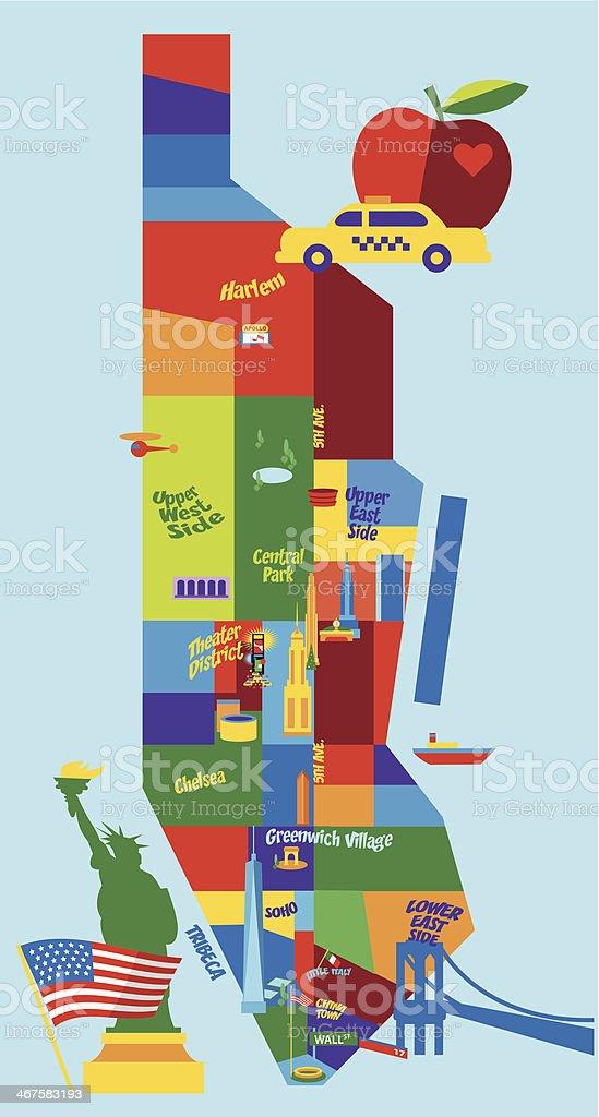 Manhattan Map vector art illustration
