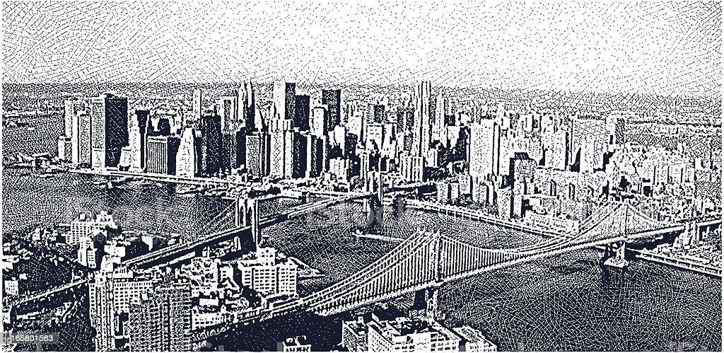 Manhattan Skyline royalty-free stock vector art